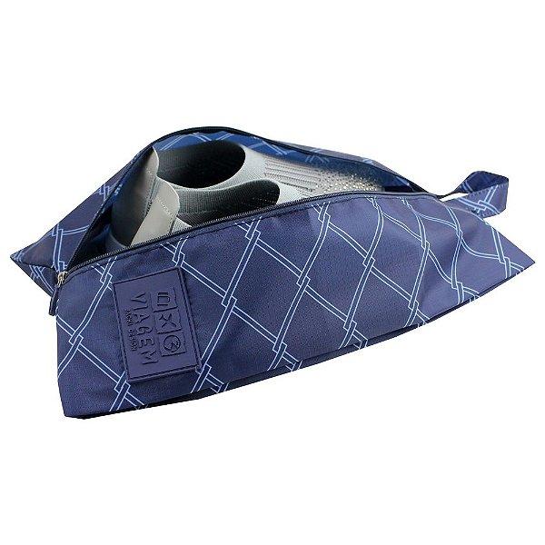 Bolsa Para Sapato Detalhada - Marinho - Jacki Design