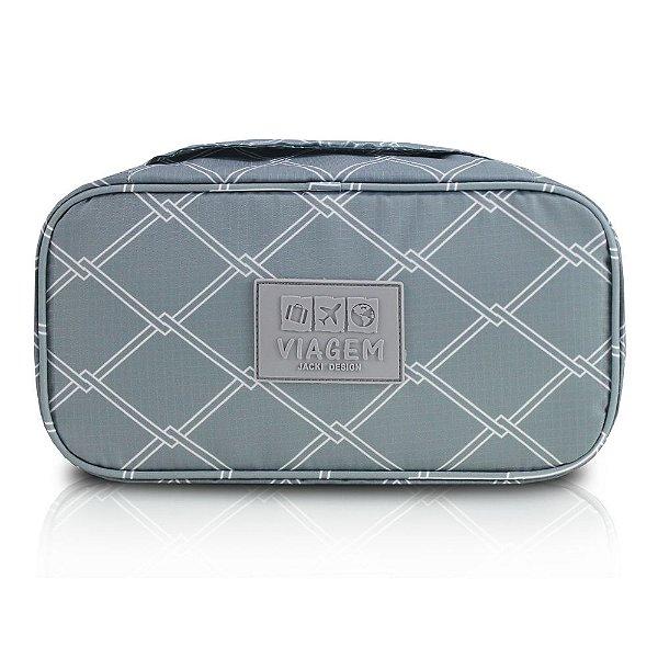 Bolsa Porta Lingerie Detalhado - Cinza - Jacki Design