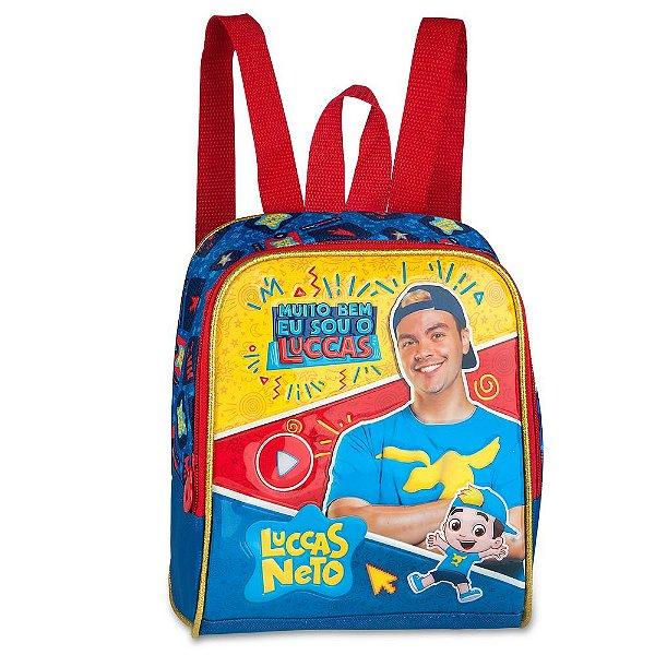 """Lancheira Luccas Neto 16"""" - Azul - Clio Style"""