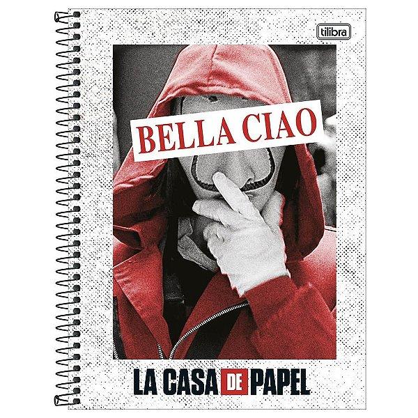 Caderno La Casa de Papel - Bella Ciao - 160 Folhas - Tilibra