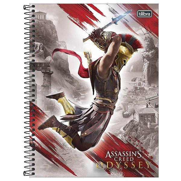 Caderno Assassin's Creed Odyssey - Ataque - 160 Folhas - Tilibra