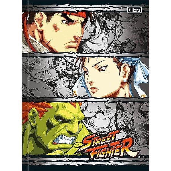 Caderno Brochura Street Fighter Trio - Tilibra