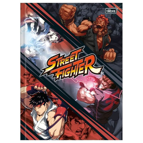 Caderno Brochura Street Fighter Ataque - Tilibra