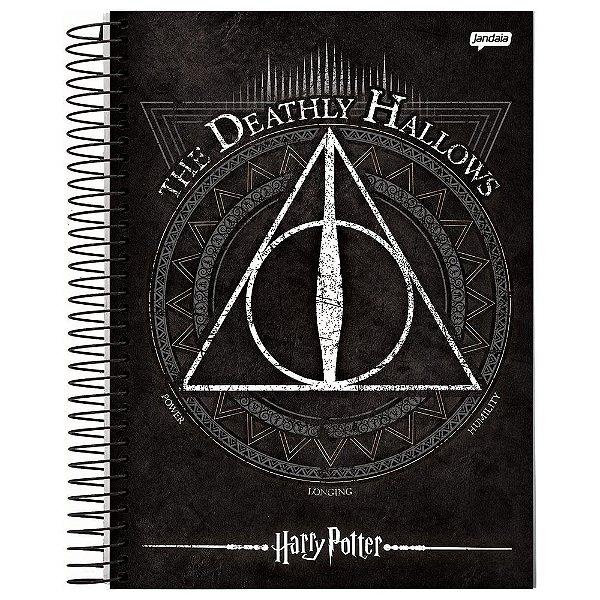 Caderno Harry Potter - Relíquias da Morte - 96 folhas - Jandaia