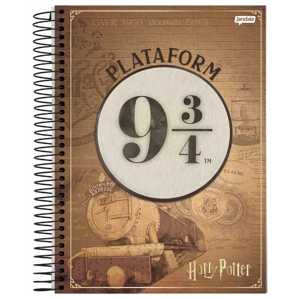 Caderno Harry Potter - Plataforma 9 3/4 - 96 folhas - Jandaia