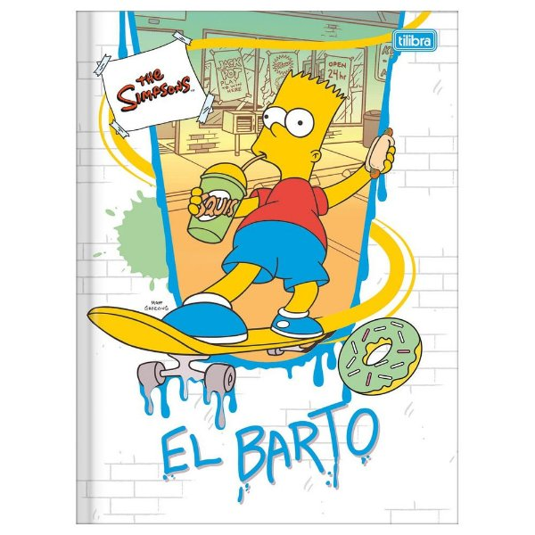 Caderno Brochura The Simpsons - Squis - 48 Folhas - Tilibra