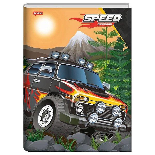 Caderno Brochura Speed Monsters Fogo - 96 Folhas - Jandaia