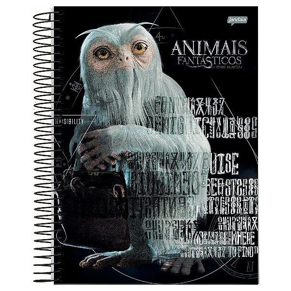 Caderno Animais Fantástcos - Seminviso - 96 folhas - Jandaia