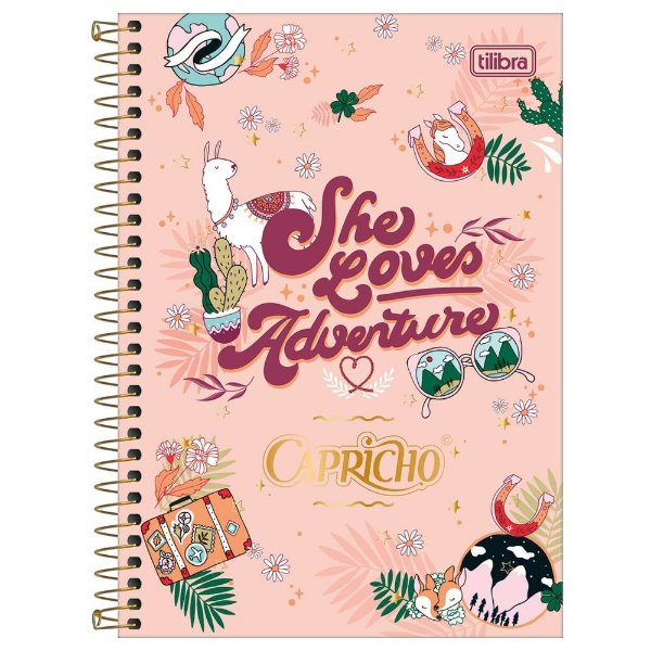 Caderno Capricho - She Loves Adventure - 80 folhas - Tilibra