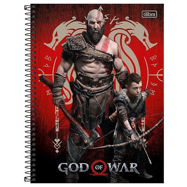 Caderno God of War - Vermelho - 160 Folhas - Tilibra