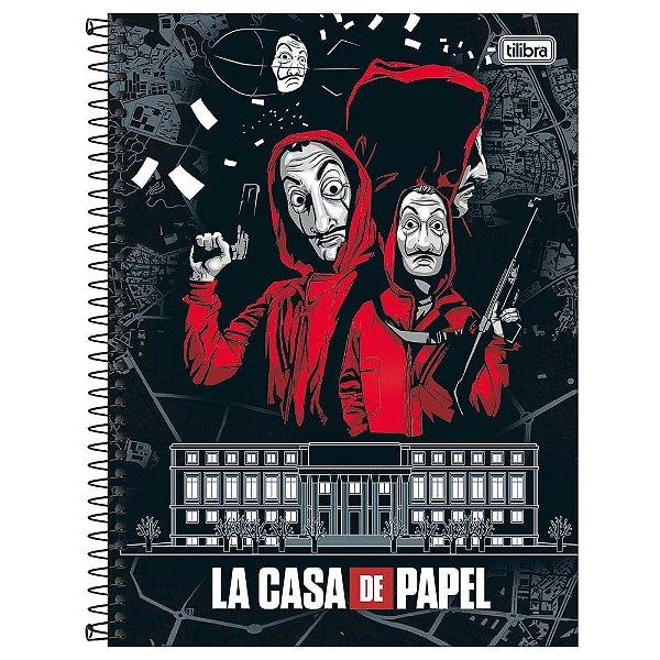 Caderno La Casa de Papel - Casa da Moeda - 80 folhas - Tilibra