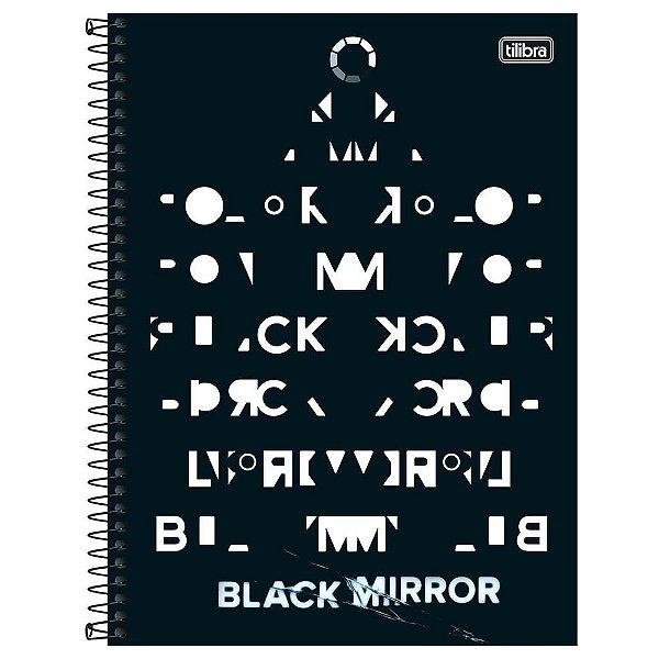 Caderno Black Mirror - Enigma - 80 Folhas - Tilibra