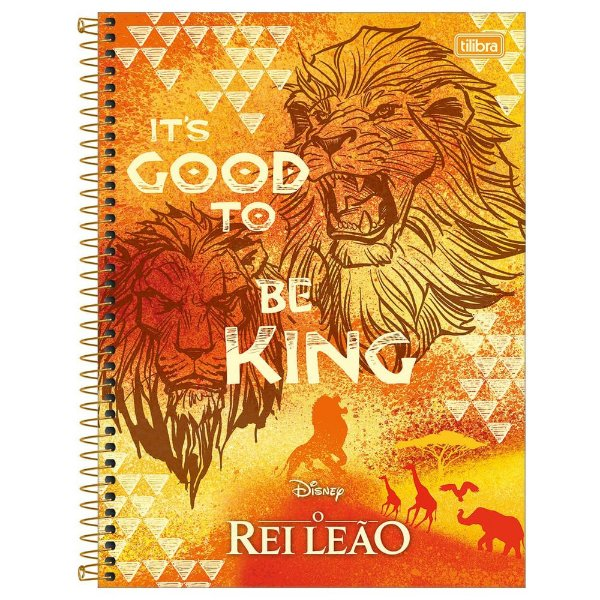 Caderno O Rei Leão - It's Good to be King - 80 Folhas - Tilibra