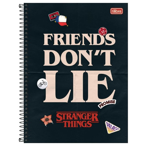 Caderno Stranger Things - Don't Lie - 160 Folhas - Tilibra