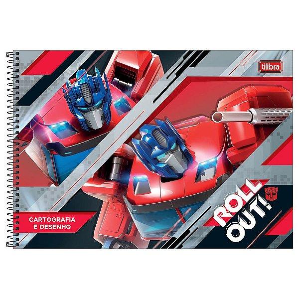 Caderno de Cartografia e Desenho Transformers - Vermelho - Tilibra