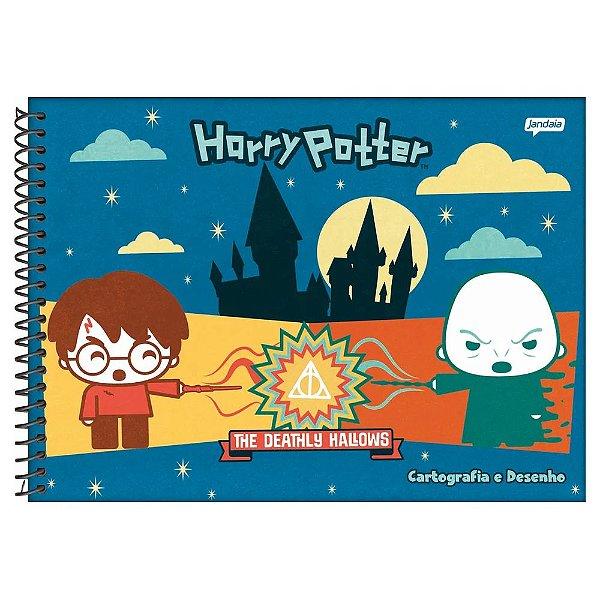 Caderno Cartografia e Desenho Harry Potter - Batalha - Jandaia