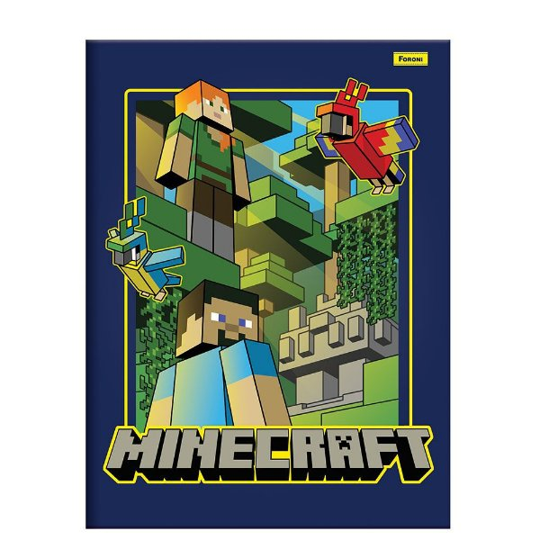 Caderno Brochura Minecraft - Papagaio - Foroni