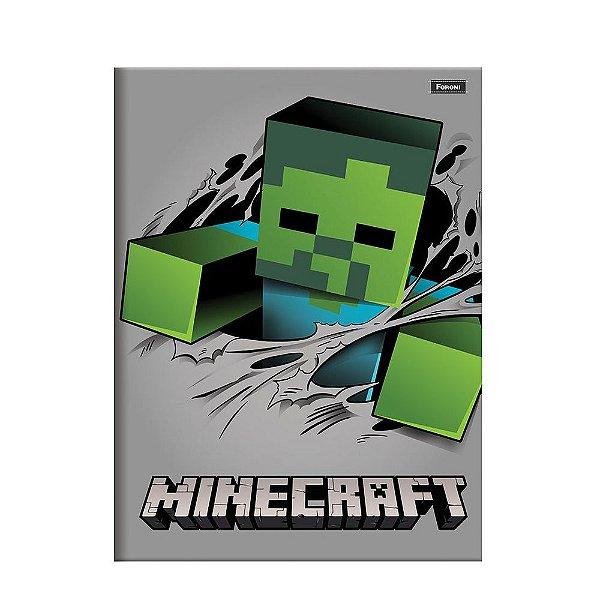 Caderno Brochura Pequeno Minecraft - Zumbi - Foroni