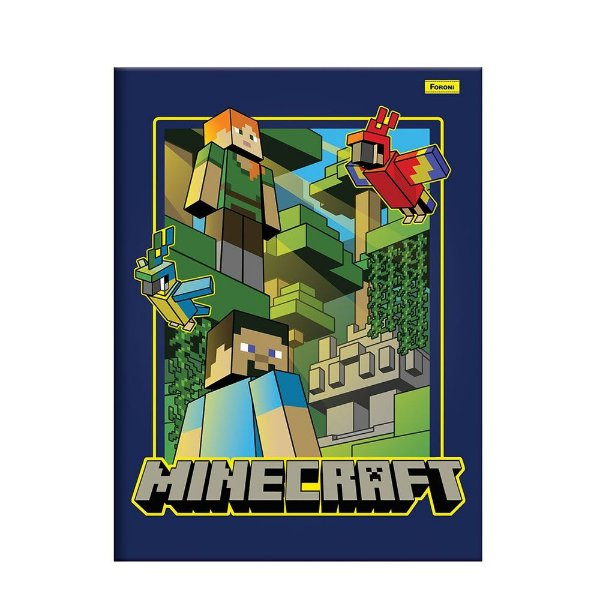 Caderno Brochura Pequeno Minecraft - Papagaio - Foroni