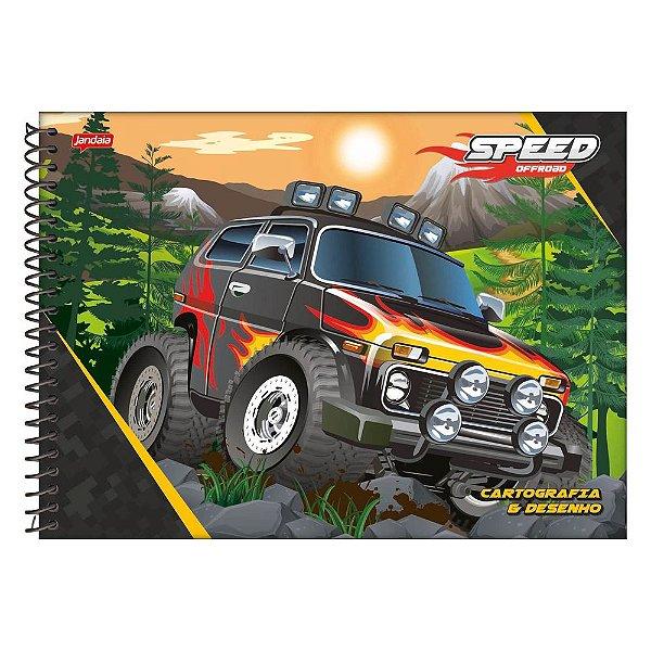 Caderno de Cartografia e Desenho Speed Monsters - Fogo - Jandaia