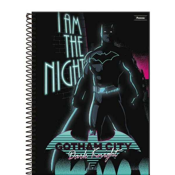 Caderno Batman 80 Years - Gotham City - 96 Folhas - Foroni