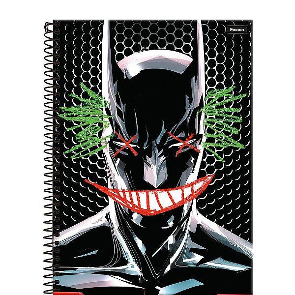 Caderno Batman 80 Years - Grafite - 96 Folhas - Foroni