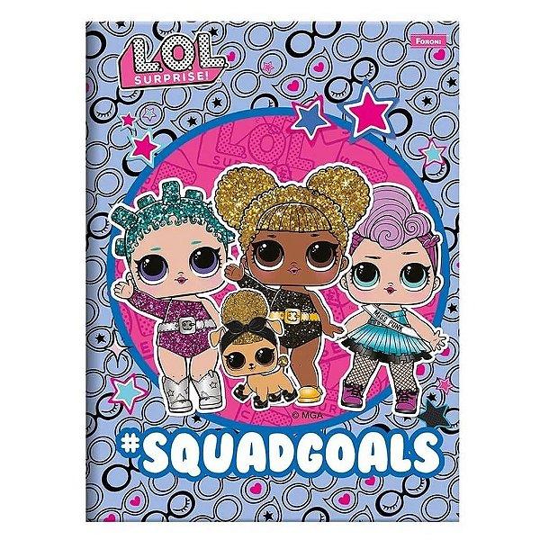 Caderno Brochura Pequeno LOL - Squad Goals - 96 Folhas - Foroni