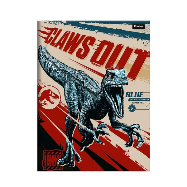 Caderno Pequeno Jurassic World - Claws Out - 96 Folhas - Foroni