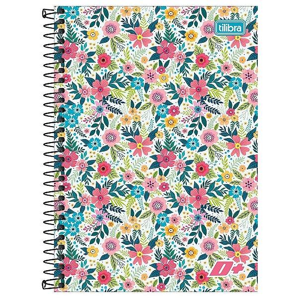 Caderno D+ - Floral - 96 folhas - Tilibra