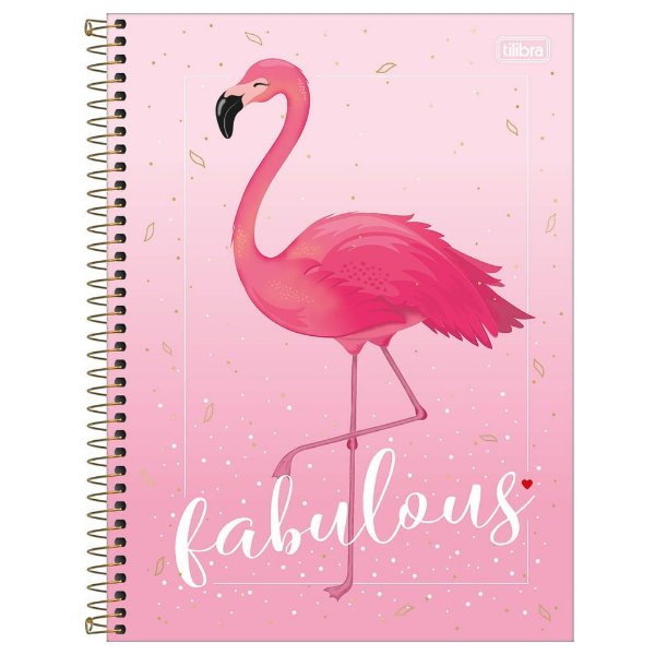 Caderno Aloha - Flamingo Fabulous - 80 Folhas - Tilibra