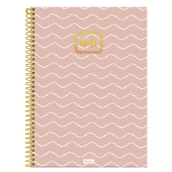 Caderno Blush - Rosa - 160 folhas - Foroni