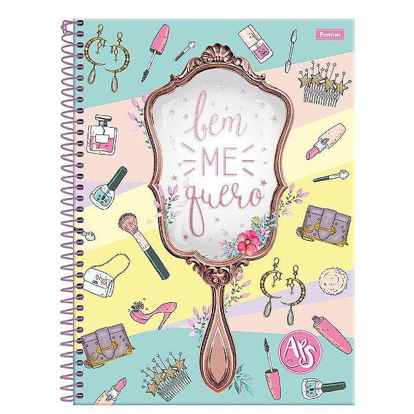 Caderno Amigas Teen - Bem me Quero - 96 folhas - Foroni