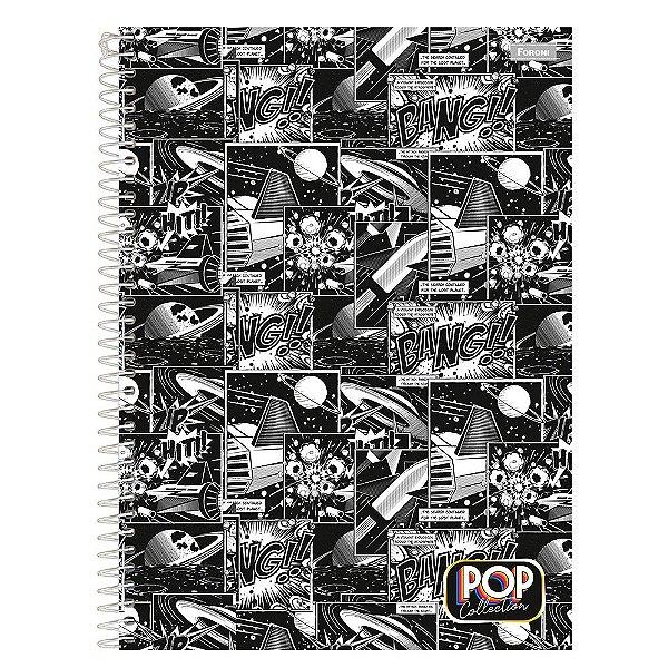 Caderno Pop Collection - Quadrinhos - 96 folhas - Foroni