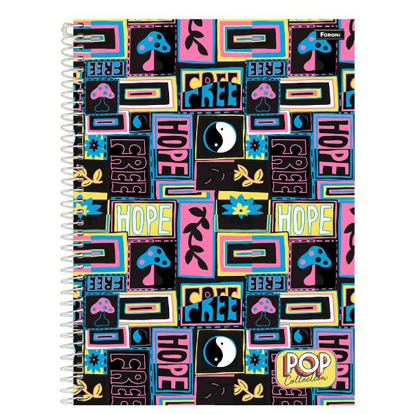 Caderno Pop Collection - Hope - 96 folhas - Foroni