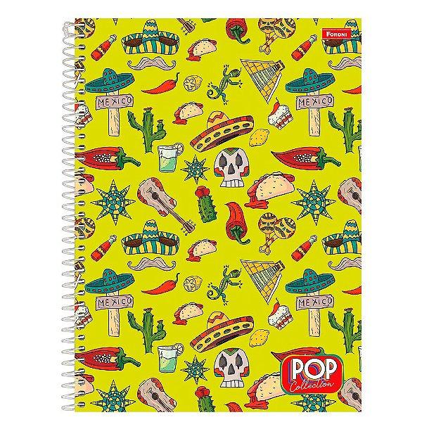 Caderno Pop Collection - México - 200 folhas - Foroni