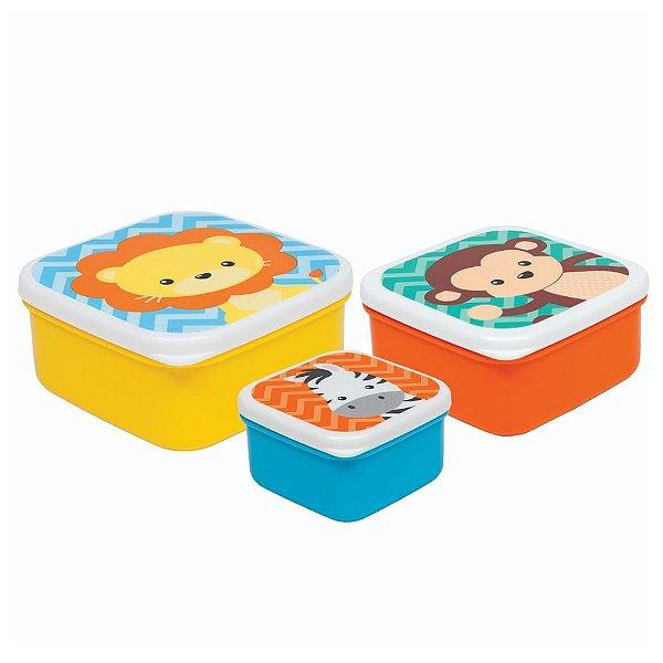 Kit Potinhos Safari - 3 peças - Buba