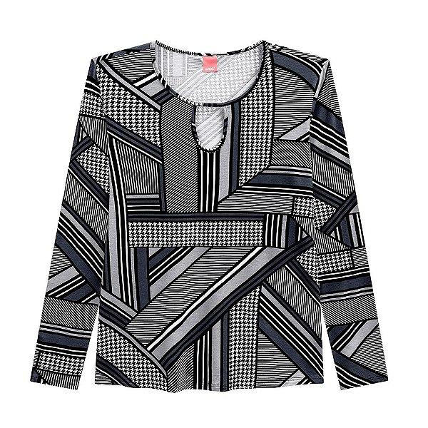 Blusa Estampada Abertura Plus Size Wee - Malwee