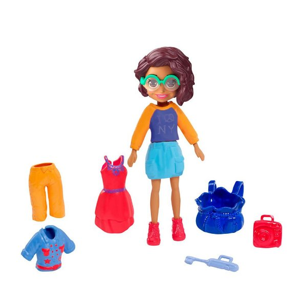 Kit Polly Pocket Estilo Nova York - Shani - Mattel