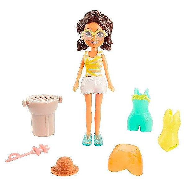 Kit Polly Pocket - Shani na Praia - Mattel