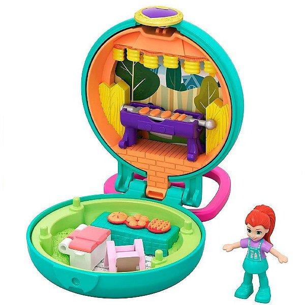 Polly Pocket Estojo Pequenos Lugares - Churrasco - Mattel