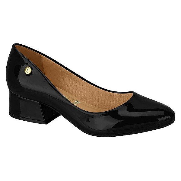 Sapato Salto Baixo Verniz Preto - Vizzano