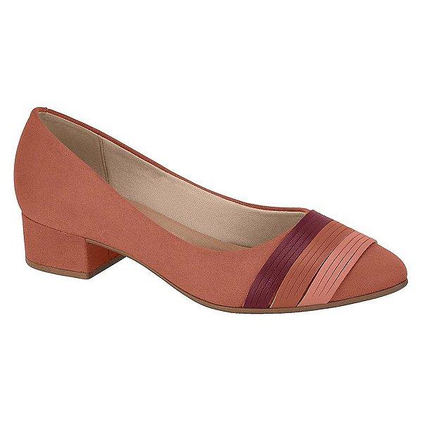 Sapato Salto Baixo Camurça Blush - Berira Rio