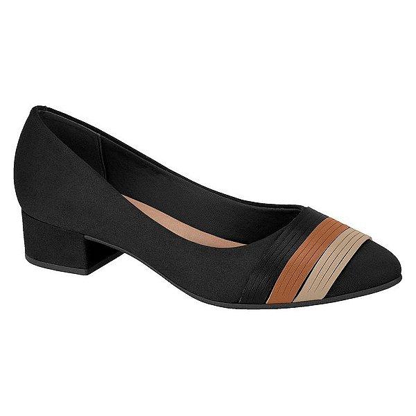 Sapato Salto Baixo Camurça Preto - Berira Rio