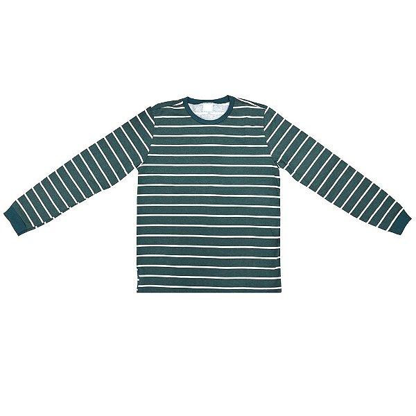 Blusa Manga Longa Listrada Verde - Malwee