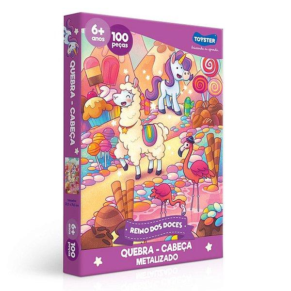 Quebra-Cabeça Metalizado Reino dos Doces - 100 peças - Toyster
