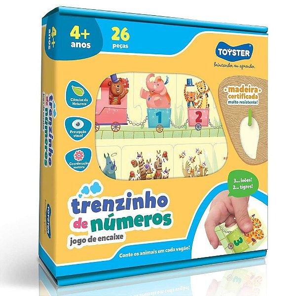 Jogo De Encaixe - Trenzinho De Números - Toyster