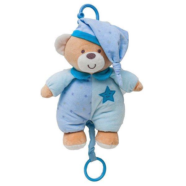 Urso de Pelúcia Musical Azul - Buba