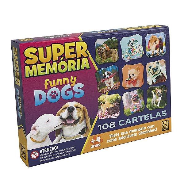 Super Memória Funny Dogs - 108 Cartelas - Grow