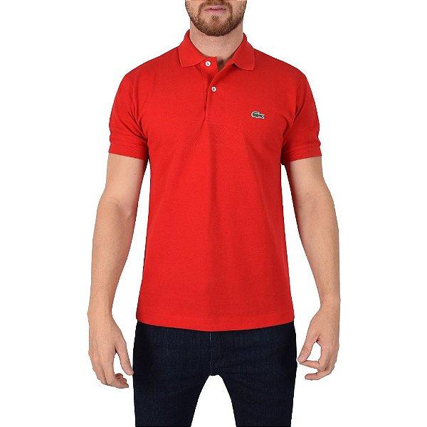 Camisa Polo Lacoste Regular - Vermelho Rouge