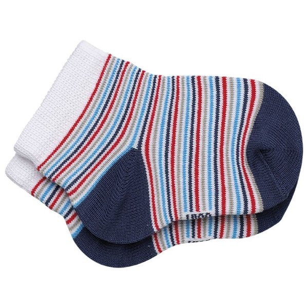 Meia Baby com Listras - Azul - Lupo